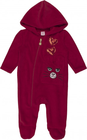 Macacão Bebê ML Plush Vermelho C1087 - Momi Bebê