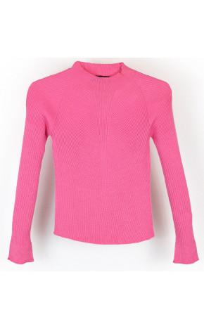 Blusa Tricot Canelada Pink Claro 22721/A - Perfumaria