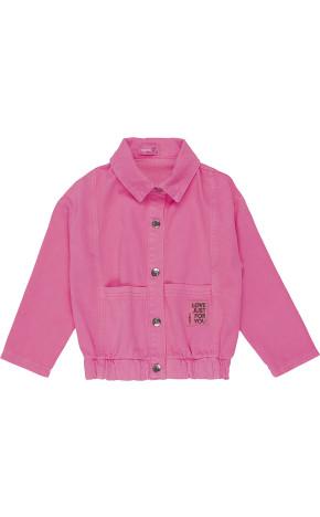 Jaqueta Jeans Rosa neon J3616 - Momi Mini