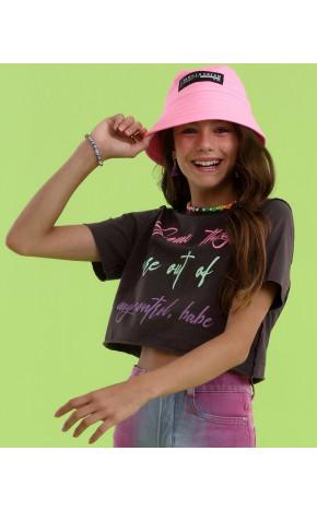 T-Shirt Preta Lettering Neon 18.19.28005 - Vanilla Cream