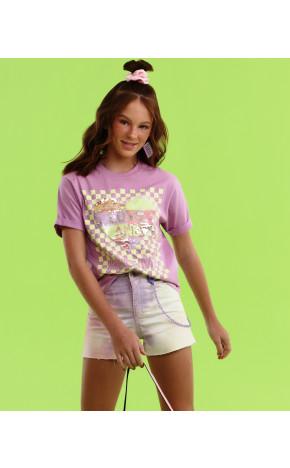 Shorts Sarja Tie Dye 18.19.13020 - Vanilla Cream