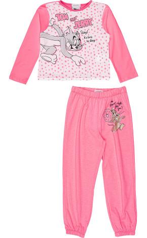 Pijama ML Blusa/Calça Rosa H3118 - Momi
