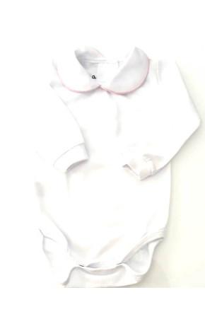 Body Bebê ML Algodão Branco B003 - Turma da Zá
