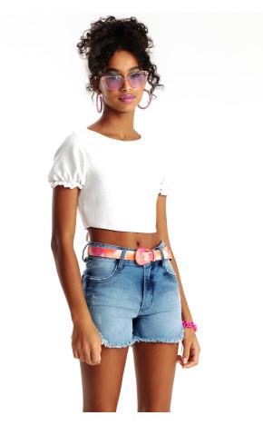 Shorts Jeans Destroyed B22022 - Bobbylulu