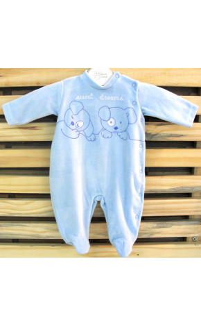 Macacão Sweet Dreams Azul 90038/A - Baby Fashion