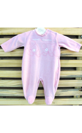 Macacão Sweet Dreams Rosa 90038 - Baby fashion