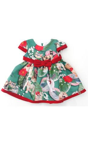 Vestido Bebê Gatinho e Cachorro 19.17.80046 - Mon Sucré Baby