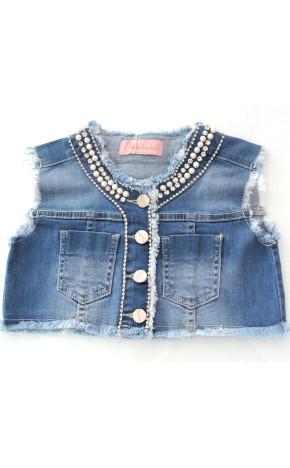 Colete Jeans Bordados 20261 - Pituchinhus