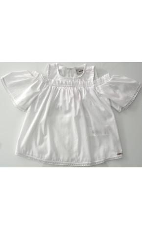 Blusa Tricoline Branca P3194 - Animê Petite
