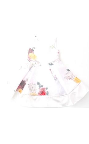 Vestido festa Tafetá Com Tela 10.15.31322 - Petit Cherie