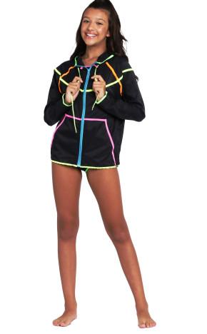 Corta Vento Teen Stela Preto 36835 - Siri