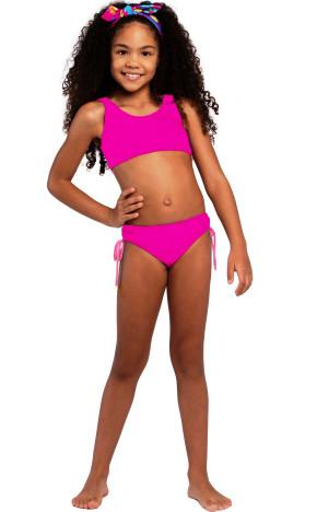 Biquíni Kids Antonela Pink 36600/A - Siri