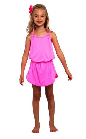 Vestido Kids Cris Rosa Neon 36545 - Siri