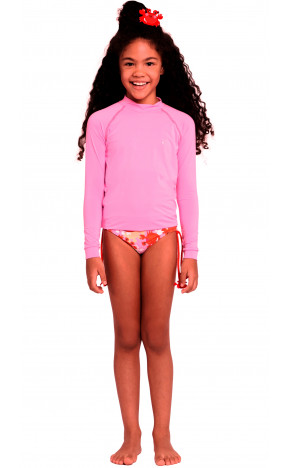 Blusa Kids Proteção Rosa Neon 36250 - Siri