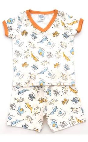 Pijama Curto Bebê Animais 4133 - Piu Piu