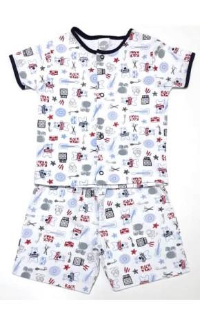 Pijama Curto Bebê 4145/A - Piu Piu