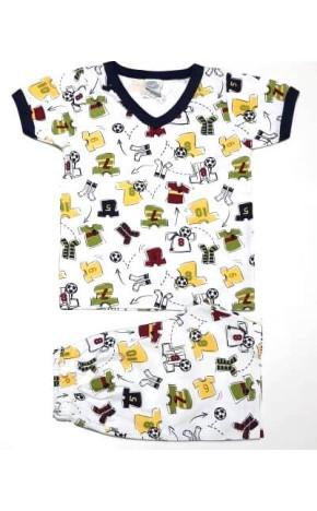 Pijama Curto Bebê Futebol 4145/B - Piu Piu