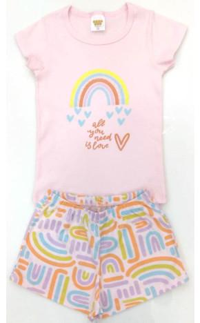 Pijama Arco Iris Rosa 25057/A - Have Fun