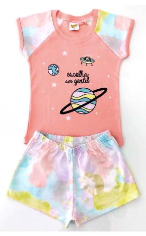 Pijama Rosa Short Tie Dye 24720 - Have Fun