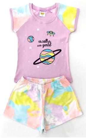 Pijama Lilás Short Tie Dye 24720/A - Have Fun