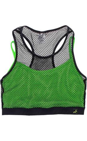 Top Verde Neon Com Tela V0025 - I Am Authoria